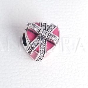Pandora Gifts of Love, Magenta Enamel & Clear CZ